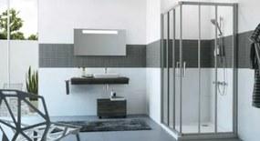 Sprchové dvere Huppe štvorec 90 cm, sklo číre, chróm profil, univerzálny C21105.069.322