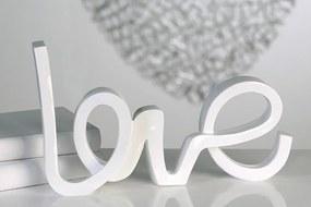 Bighome - Dekorácia LOVE - biela