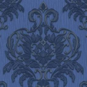 Vliesové tapety, zámocký vzor modro-strieborný, Dieter Bohlen Spotlight 243730, P+S International, rozmer 10,05 m x 0,53 m