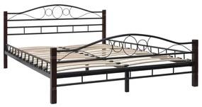 Kovový rám postele s lamelovým roštom 140x200 cm