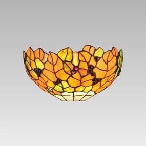 Interierové rustikálne svietidlo PREZENT TIFFANY oranžová 73