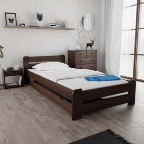 Maxi Drew Posteľ Laura 90 x 200 cm, orech Rošt: s lamelovým roštom, Matrac: bez matrace