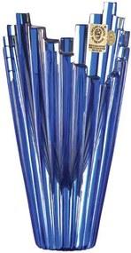 Bohemia Crystal Brúsená váza Mikádo 88849/0/76F94/155mm - modrá