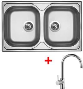 Set Sinks CLASSIC 800 DUO V matný + batéria VITALIA