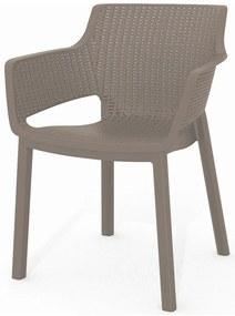 KETER EVA záhradná stolička, 57,7 x 62,5 x 79 cm, cappuccino 17210109