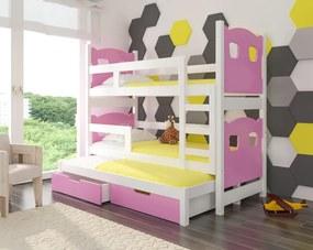 Detská poschodová rozkladacia posteľ Jade 08
