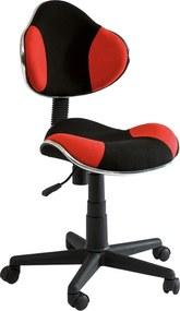 SIGNAL Q-G2 kancelárska stolička červená / čierna