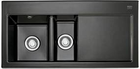 Franke Mythos MTK 651, 1000x510 mm, keramický drez, ľavý, čierna 124.0294.583