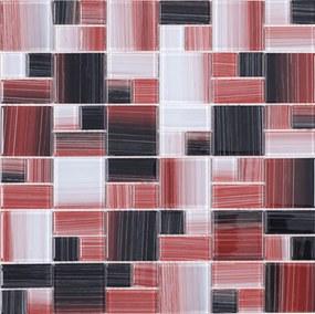 Sklenená mozaika Premium Mosaic vícebarevná 30x30 cm lesk MOS4823MIX1HP