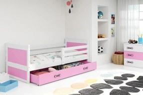 BMS Group Jednolôžková posteľ RICO - so zásuvkou - BIELA