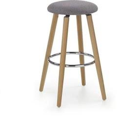 Barová stolička H76 sivá Halmar