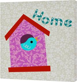 Nástenný obrázok Sweet Home Pink, 27 × 27 cm