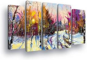 GLIX Obraz na plátne - Nature in Pastel Tones 2 x 30x80 / 3 x 30x100 cm