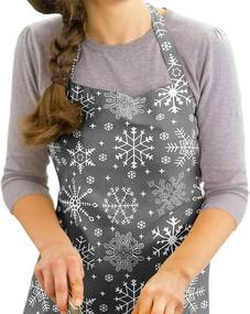 Vianočná kuchynská zástera KANAFAS - vzor snehové vločky na sivom