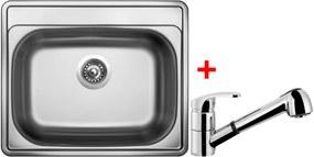 Set Sinks COMFORT 600 V matný + batéria LEGENDA S