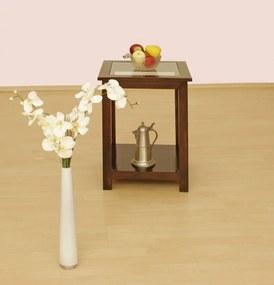 Bighome - CAMBRIDGE Príručný stolík 45x45 cm, akácia