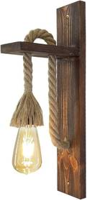 Drevené nástenné svietidlo Ahsap
