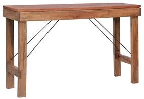 vidaXL Skladací konzolový stolík 130x40x80 cm masívne recyklované drevo