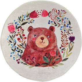 Detský protišmykový koberec Chilam Bears Garden, ø 140 cm
