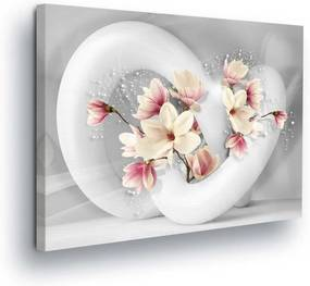 GLIX Obraz na plátne - Flower Toboggan 80x60 cm