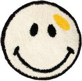 Kusový koberec Shaggy vlas 30mm Smile biely, Velikosti 100x100cm