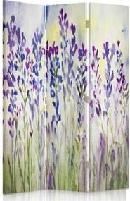 CARO Paraván - Painted Flowers On A White Background | trojdielny | obojstranný 110x180 cm