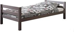 Sivá detská posteľ Vipack Pino, 90 × 200 cm
