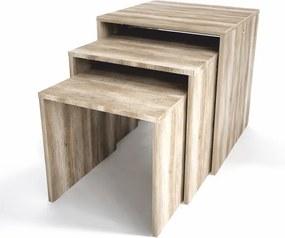 TEMPO KONDELA Sipani New príručný stolík (3 ks) dub canyon
