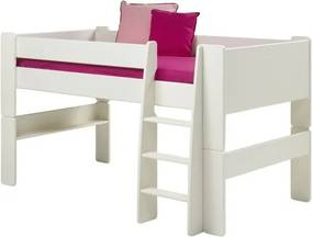 Sconto Zvýšená posteľ so schodíkmi FOR KIDS 613 biela, 90x200 cm