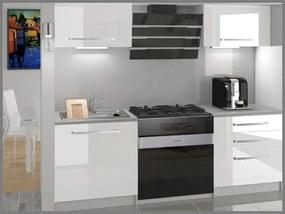 Kuchynská zostava paneláková 120 cm biela lesk Vanda