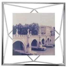 Fotorámik PRISMA 10x10 cm kov chrómový, Umbra, Kov, sklo, 15,2x15,2x7,6cm, Chrómová