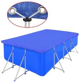 Obdĺžniková bazénová plachta z polyetylénu 90 g/m2 394 x 207 cm