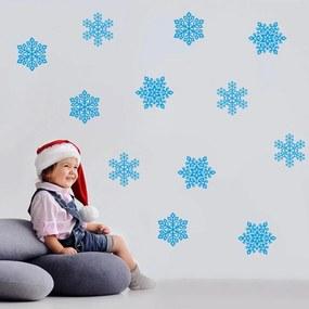 Vianočná dekorácia na stenu - modré vločky modré vločky