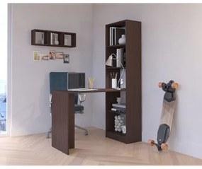 Pracovní stôl s regálom SMART wenge