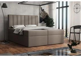 Čalúnená posteľ boxspring 120x200 SAMANTA - hnedá 1