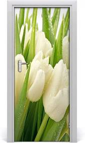 Fototapeta samolepiace  biele tulipány