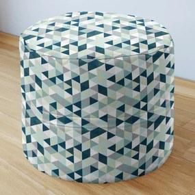 Goldea bavlnený sedacie bobek 50x40cm - vzor mintové a zelené trojuholníky 50 x 40 cm