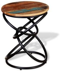 vidaXL Koncový stolík z masívneho regenerovaného dreva