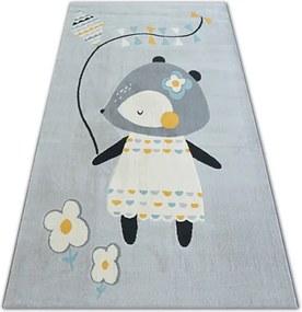 MAXMAX Detský kusový koberec MYŠKA - sivý