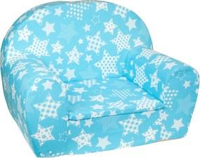 Detské kresielko hviezdy modré