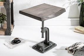 Bighome - Príručný stolík FACTOR 43 cm - sivá