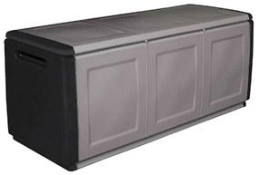 Artplast Plastový odkladací box s vrchnákom, 1380x570x530 mm, sivý