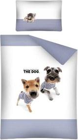 Obliečky do postieľky The Dog Námorníci modrá 100/135 cm