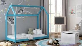 Detská posteľ Domček 160x80 modrá