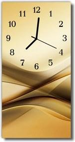Nástenné hodiny vertikálne  Umenie abstrakcie béžová