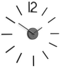 Nástenné hodiny BLINK z kovu voliteľnej veľkosti v čiernej farbe, Umbra, Kov, veľkosť si môžte zvoliť, čierna