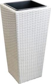 [neu.haus]® Pletený kvetináč - 31x31x64cm - biely