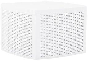 vidaXL Príručný stolík, biely 54x54x36,5 cm, plast