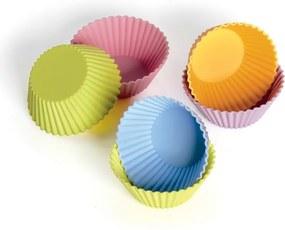 KAISER Súprava farebných silikónových formičiek na mafiny 6 kusov Muffin World