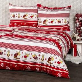 4Home flanelové obliečky Sobíky, 140 x 200 cm, 70 x 90 cm
